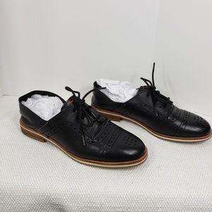 ED Ellen Degeneres Lolena Black Leather Oxfords